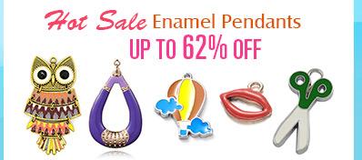 Hot Sale Enamel Pendants UP TO 62% OFF