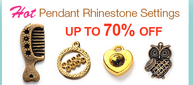 Hot Pendant Rhinestone Settings UP TO 70% OFF