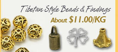 Tibetan Style Beads & Findings $11/KG