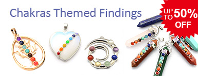 Chakras Themed Findings UP TO 50% OFF