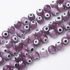 Púrpura Abalorios De Cristal de Murano