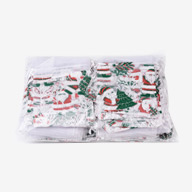 Christmas Organza Bags, White, about 9cm wide, 13cm long