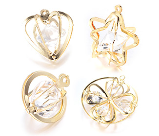 Iron Glass Rhinestone Pendants