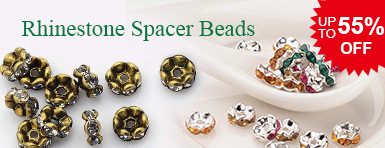 Rhinestone Spacer Beads UP TO 55% OFF