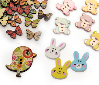 Animal Wooden Buttons