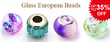 Glass European Beads UP TO 35% OFF