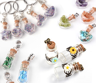 Glass Bottle Pendants