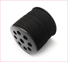 3mm Black Environmental Faux Suede Cord