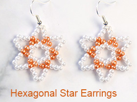 Hexagonal Star Earrings