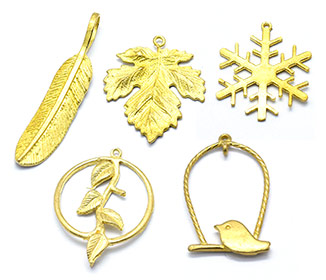 Golden Brass Findings