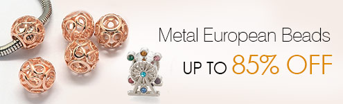 Metal European Beads UP TO 85% OFF