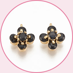 Cubic zirconia charms