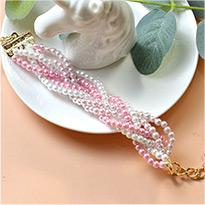2006 Pink Pearl Braided Bracelet