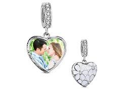 TINYSAND Mom /& Baby 925 Sterling Silver Crystal Flower Charm Pendant for Bracelets Necklace for Women