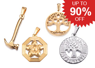 Stainless Steel Pendants Up To 90% OFF
