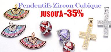 Pendentifs Zircon Cubique