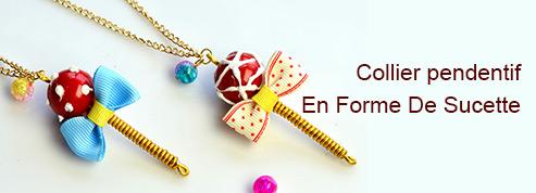 Collier pendentif En Forme De Sucette