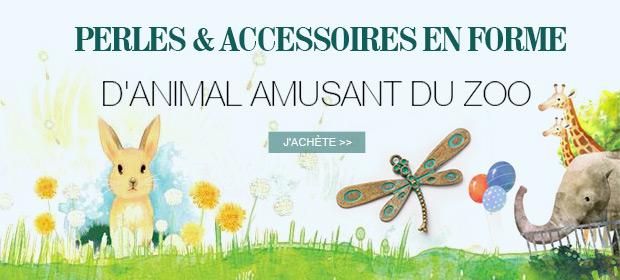 Perles & Accessoires En Forme D'animal Amusant Du Zoo