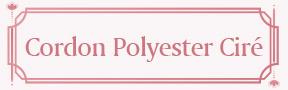 Cordon Polyester Ciré
