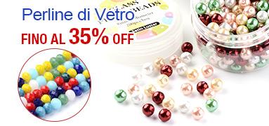 Perline di Vetro FINO Al 35% OFF
