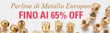 Perline di Metallo Europeo FINO Al 65% OFF